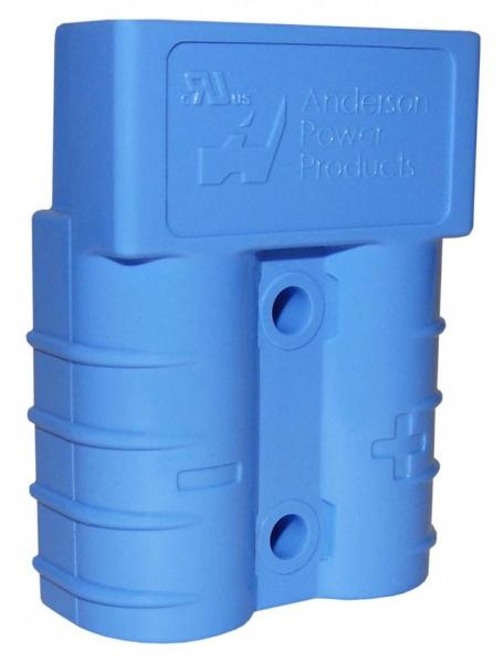 Роз'єм для АКБ Anderson Power Products SB50 50A 600V Блакитний 48V 16мм2 купити замовити Київ Україна